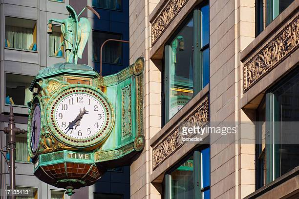 Father Time Clock in Chicago Illinois USA