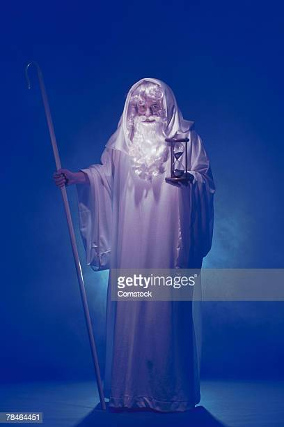 father time - father time stock photos and pictures