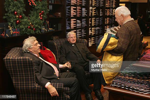 Father Tom Hartman and Rabi Gellman and Guest during Brook Brothers Join with Rabi Gellman and Father Tom Hartman at The Manhassett Location December...