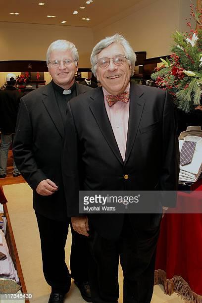 Father Tom Hartman and Rabi Gellman during Brook Brothers Join with Rabi Gellman and Father Tom Hartman at The Manhassett Location December 4 2005 at...