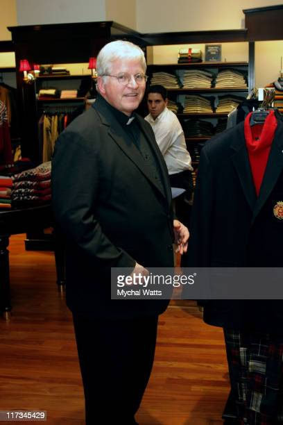 Father Tom Hartman during Brook Brothers Join with Rabi Gellman and Father Tom Hartman at The Manhassett Location December 4 2005 at Brooks Brothers...