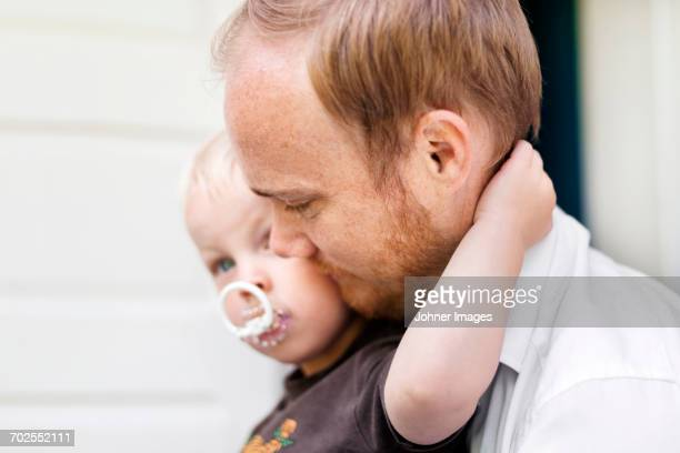 Father with baby son