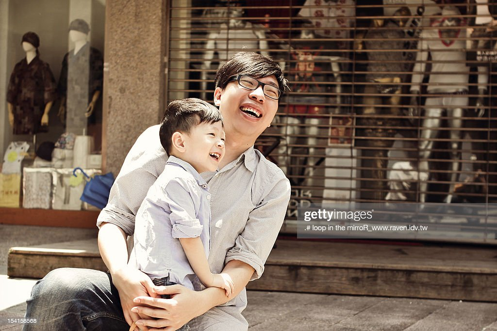 Father with boy : Foto de stock