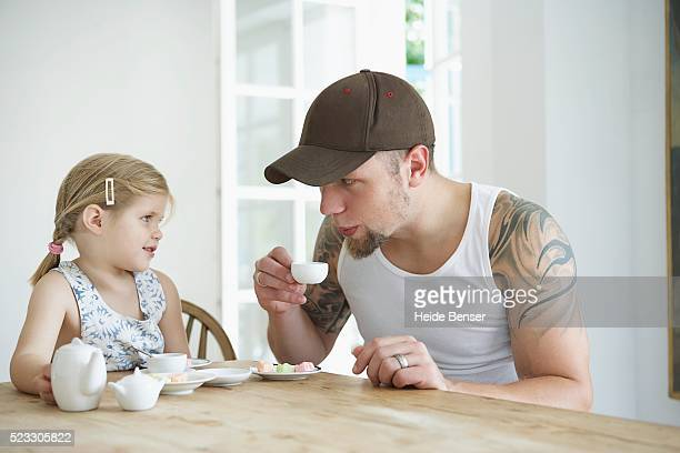 Father with daughter
