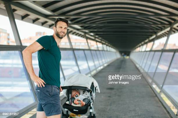 Father with son in pram