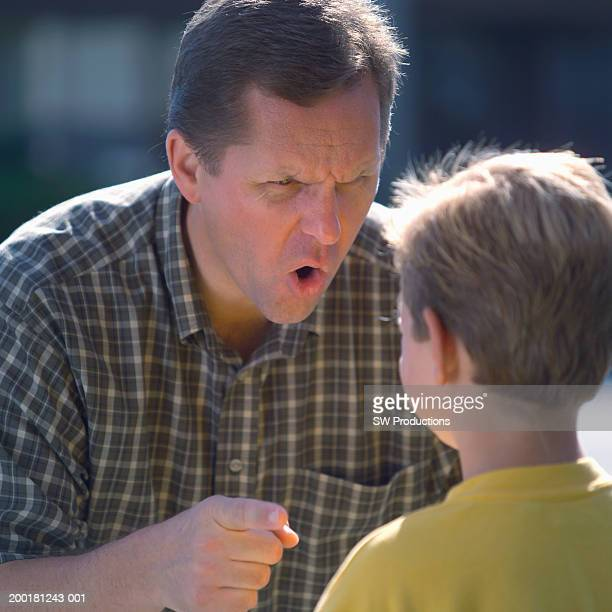 Father yelling at son (8-10)