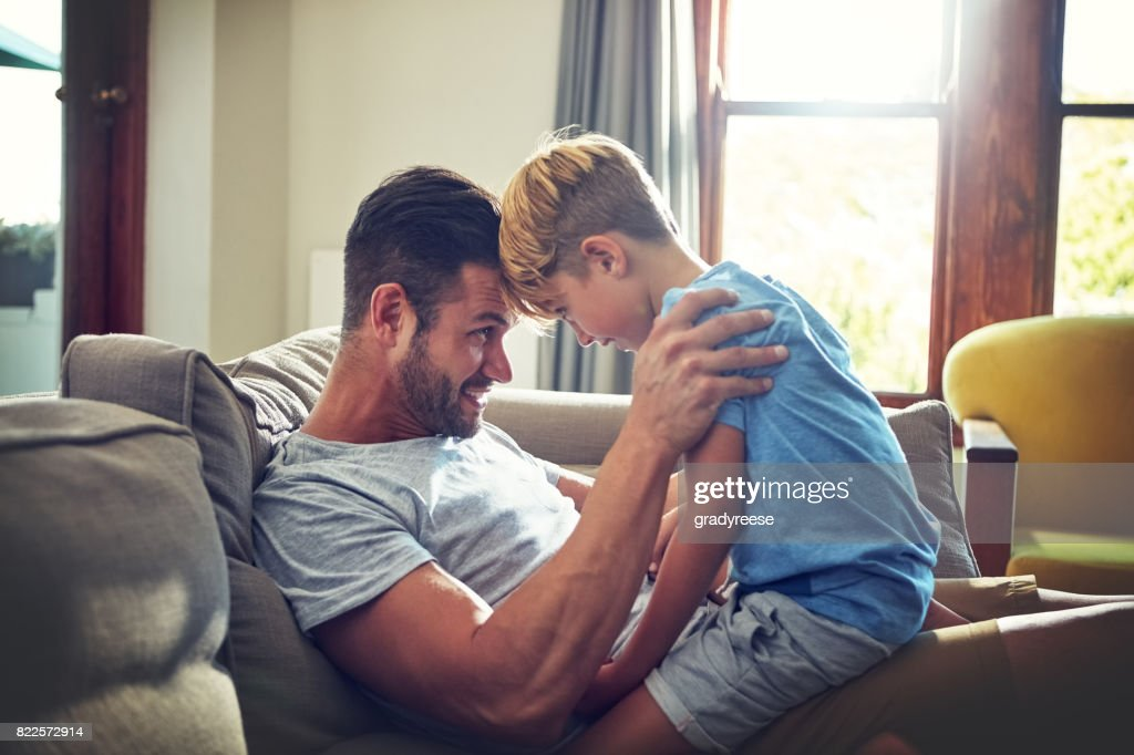 Fatherhood is a huge responsibility and gift to take seriously : Stock Photo