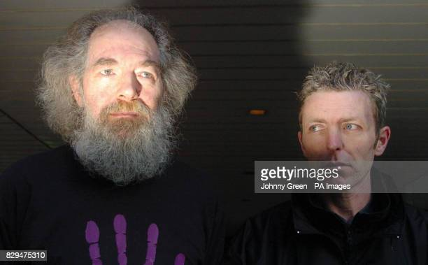 Fathers 4 Justice supporters Matthaus Huber who lives in Dagenham in east London, and Graham Manson from Belfast but who now lives in London.