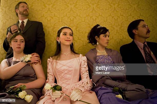 Fathers accompany their daughters to the FatherDaughter Purity Ball on May 16 2008 in Colorado Springs Colorado The ball founded in 1998 by Randy and...