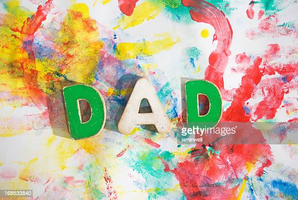 fathers day concept; dad blotchy colors background artwork tribu
