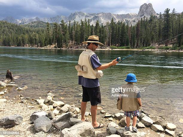 Father's day fishing adventure in mountains