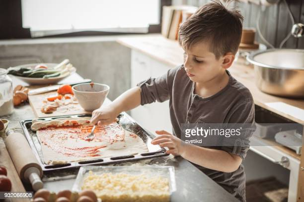 father's little bakers - preparation stock pictures, royalty-free photos & images