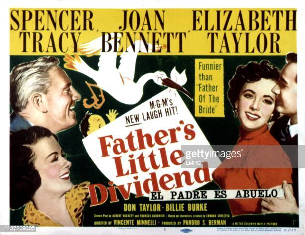 Father's Little Dividend lobbycard Joan Bennett Spencer Tracy Elizabeth Taylor Don Taylor 1951