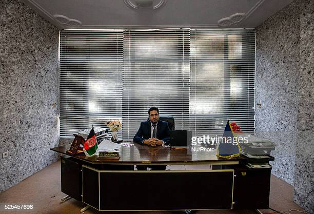Fathullah Babak Khil founder of Mashal institute of higher education sits in his cabinet Kabul Afghanistan Since 2002 the end of Taliban era in...