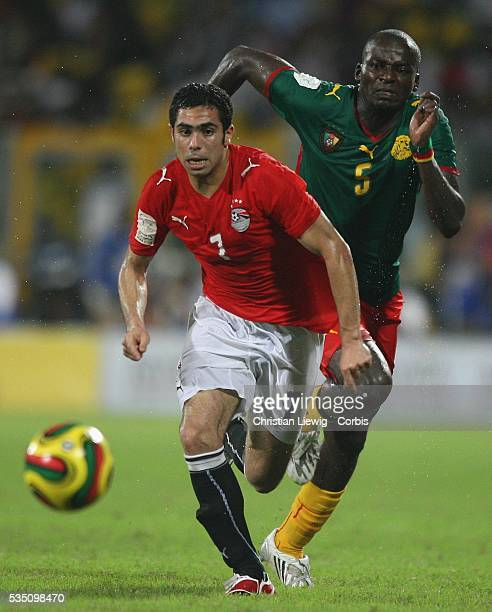 Fathy Abdel Meneim of Egypt during the Final of the CAF African Cup of Nations played between Egypt and Cameroon in Accra Ghana