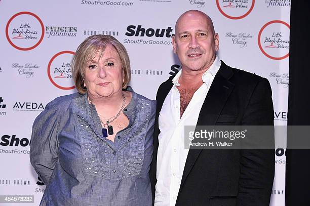 Fatigues to Fabulous creator Ronnie Denn and Designer Carmen Marc Valvo attends the Salute The Runway fashion show sponsored by Little Black Dress...