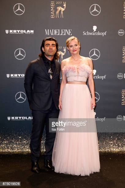 Fatih Akin and Diane Kruger arrive at the Bambi Awards 2017 at Stage Theater on November 16 2017 in Berlin Germany