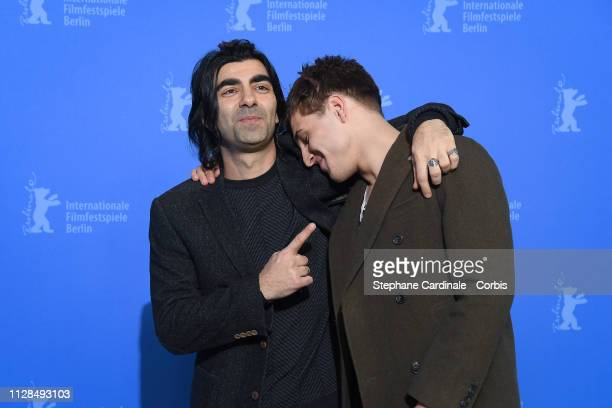 """Fatih Akin and Jonas Dassler pose at the """"The Golden Glove"""" photocall during the 69th Berlinale International Film Festival Berlin at Grand Hyatt..."""