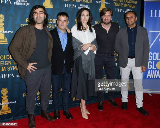 Fatih Akin Sebastian Lelio Angelina Jolie Ruben Ostlund and Andrey Zvyagintsev attend the HFPA and American Cinematheque present The Golden Globe...
