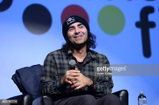 Fatih Akin speaks on a panel after a screening of 'In The Fade' at the 29th Annual Palm Springs International Film Festival on January 8 2018 in Palm...