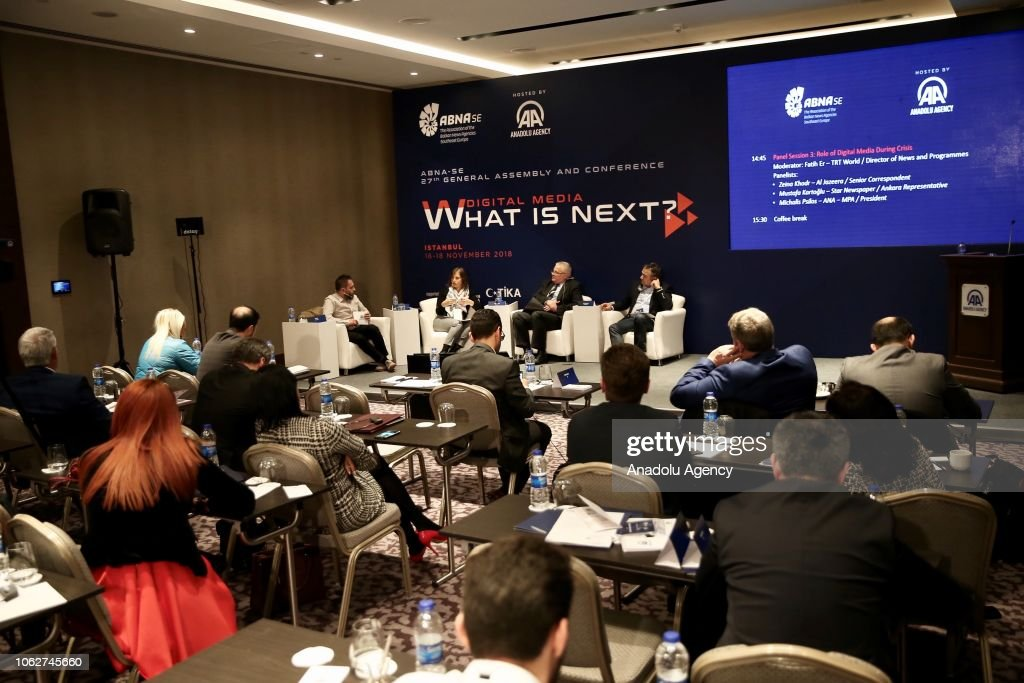 Fatih Er Trt World Director Of News And Programs Zeina Khodr News Photo Getty Images