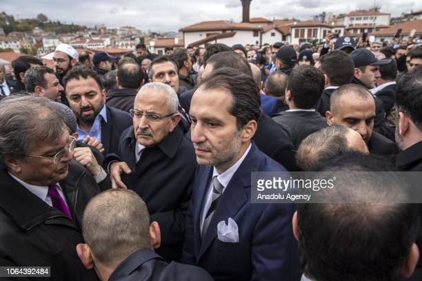 Fatih Erbakan son of Former Prime Minister of Turkey Necmettin Erbakan is seen after performing friday prayer at the Haci Bayram Mosque in Ankara...