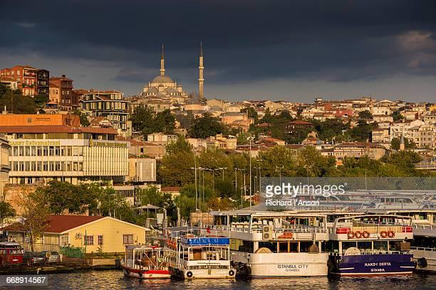 Fatih Mosque & ferry docks on the Golden Horn