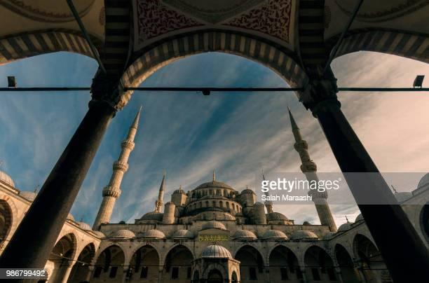 fatih mosque - salah stock photos and pictures