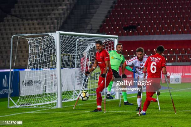 Fatih Senturk of Turkey is seen in action against Spain during the finals of Amp Futbol EURO 2021 in Krakow, Poland on September 19, 2021.