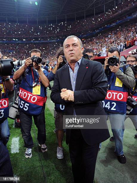 Fatih Terim coach of Galatasaray AS during the UEFA Champions League group stage match between Real Madrid CF and Galatasaray AS held on September 17...