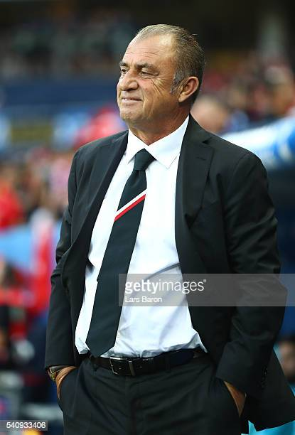 Fatih Terim head coach of Turkey looka on during the UEFA EURO 2016 Group D match between Spain and Turkey at Allianz Riviera Stadium on June 17 2016...