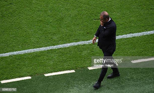Fatih Terim head coach of Turkey looks on during the UEFA EURO 2016 Group D match between Turkey and Croatia at Parc des Princes on June 12 2016 in...