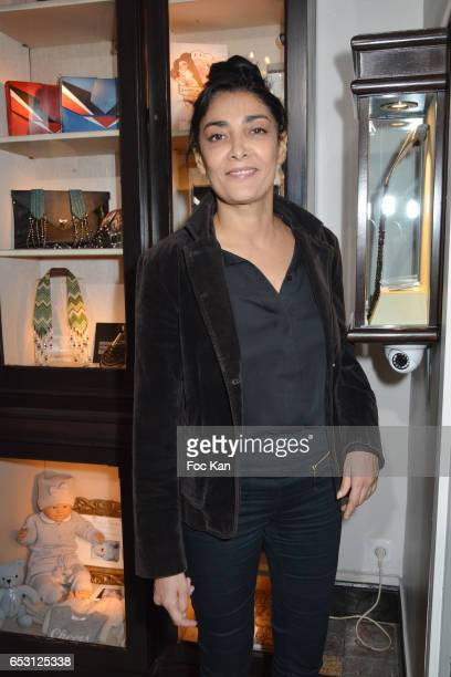 Fatima Adoum attends William Arlotti Show at Hotel Lancaster Hosted by Domaine de La Croix wines on March 13 2017 in Paris France