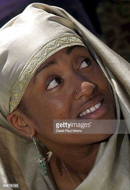 Fatima AsSabur attends Juneteenth Black Independence Day celebrations at Nichol Park on June 19 2004 in Richmond California The holiday is celebrated...