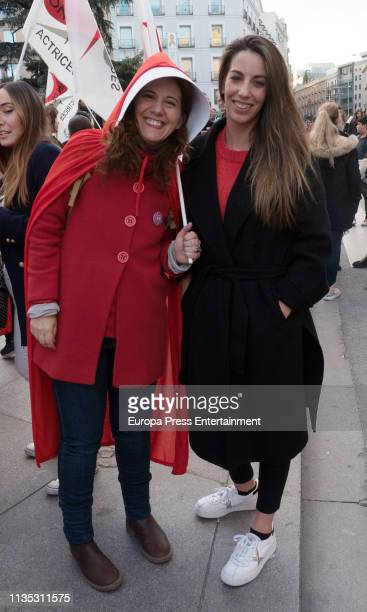 Fatima Baeza and Almudena Cid attend Women's Day In Madrid on March 08 2019 in Madrid Spain