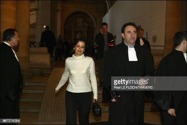 Fatima Belaid and her lawyer