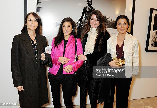 Fatima Bhutto and Allegra Donn attend a private view of Nikolai Von Bismarck's new photography exhibition 'In Ethiopia' at 12 Francis Street Gallery...