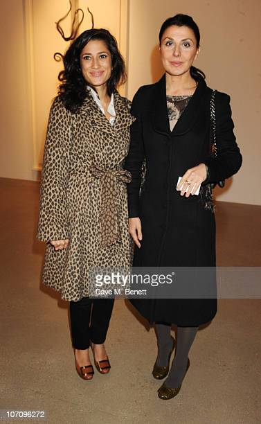 Fatima Bhutto and Allegra Donn attend the book launch for Allegra Hicks' new book at the Timothy Taylor Gallery on November 23 2010 in London England