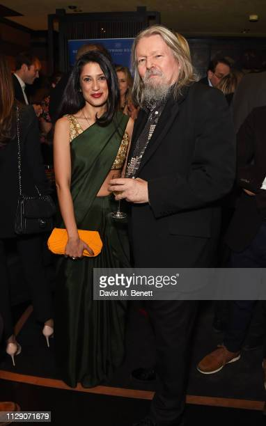 Fatima Bhutto and Christopher Hampton attend the launch of The Runaways a new novel by Fatima Bhutto at Blakes Below on March 7 2019 in London England