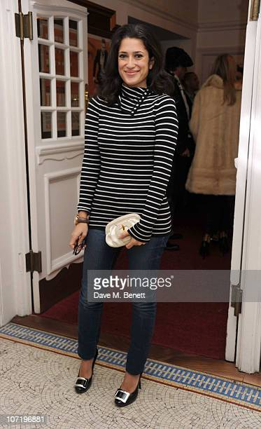 Fatima Bhutto attends Clive Owen's special inhouse screening of 'Sweet Smell of success' with Ella Krasner Katrina Pavlos presented by TOD's at The...