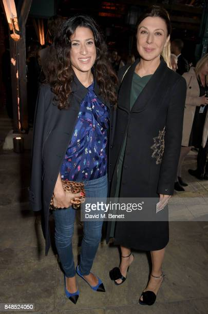 Fatima Bhutto attends the Emporio Armani Show on September 17 2017 in London England