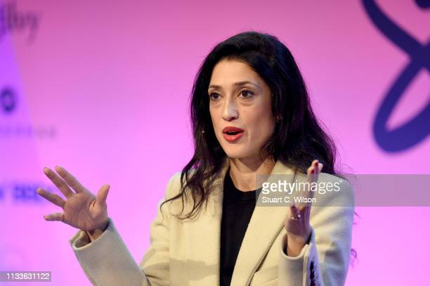 Fatima Bhutto speaks at Spirit Forward LONDON the first ever SHE Summit in Europe hosted by Bacardi Ltd and SHE Global ahead of International Women's...