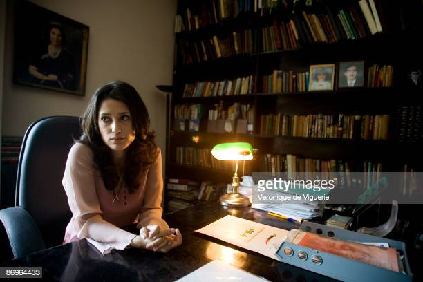Fatima Bhutto the poet/writer/journalist and estranged niece of Benazir Bhutto pictured on March 30 2009 in Karachi Pakistan