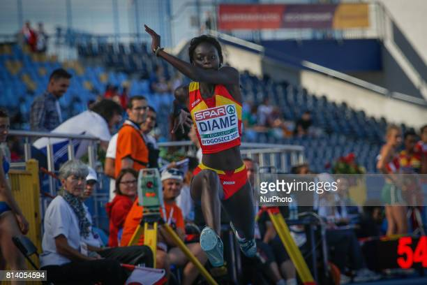 Fatima Diame of Spain is seen competing in the triple jump during the U23 European Atheltics Championships on 13 July 2017 in Bydgoszcz Poland