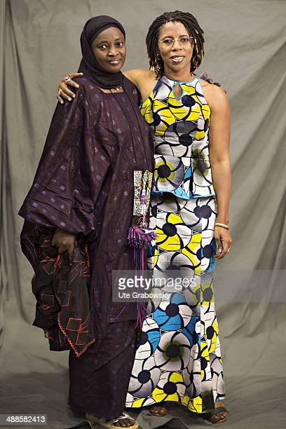 Fatima Dodouka 36 years old from Agadez in Niger poses during SAFEM Salon international de l'artisanat pour la femme trade fair on December 06 2013...