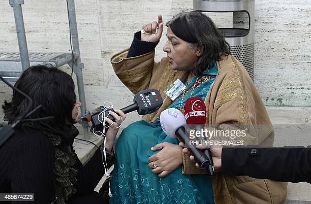 Fatima Khan the mother of British doctor Abbas Khan who died at 32 in a Syrian jail in disputed circumstances is interviewed by Syrian TV journalists...
