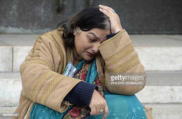 Fatima Khan the mother of British doctor Abbas Khan who died at 32 in a Syrian jail in disputed circumstances cries at the United Nations on January...
