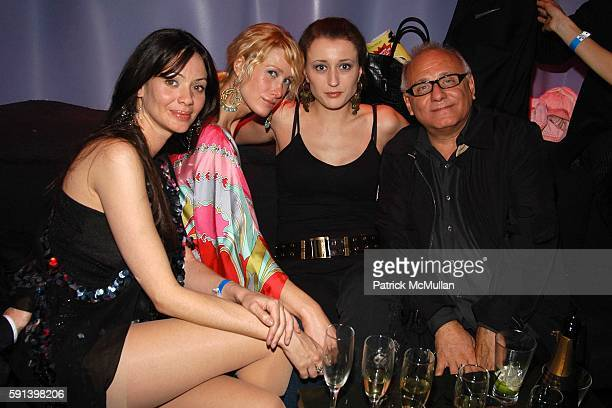 Fatima Lauren von Feldt Ania Wisniewsta and Max Azria attend BCBG Max Azria AfterShow Party at AER Lounge on February 7 2005 in New York City
