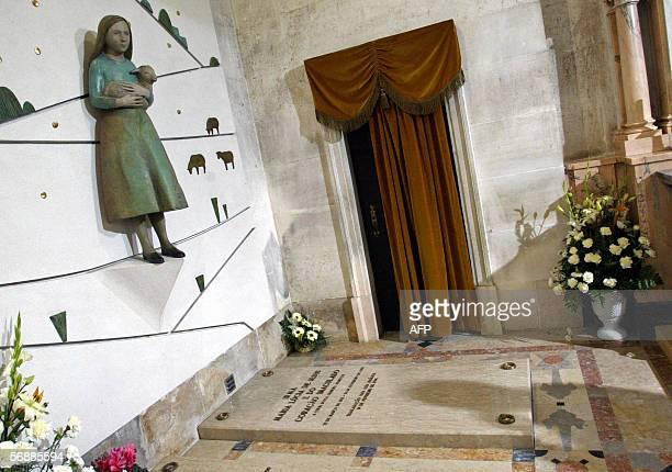 The grave of Lucia de Jesus dos Santos is seen inside the Basilique of Fatima at the Fatima sanctuary in Fatima 120 km north of Lisbon 19 February...