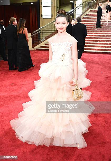 Fatima Ptacek arrive at the Oscars at Hollywood Highland Center on February 24 2013 in Hollywood California at Hollywood Highland Center on February...